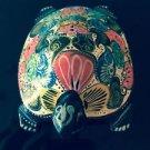 VTG Hand painted Wooden Multicolor Turtle Figure