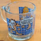 VTG GARFIELD for McDonald's Clear Glass Cup I'd like Mornings Better