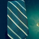 NWOT Damon Dark Blue w/ Silver and White Diagonal Stripe Tie 3'' Silk Italy