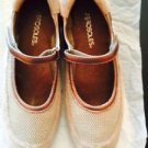 Pre-owned AEROSOLES Beige Suede Mary Jane Walking Shoes SZ 7M