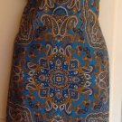 Nwot Laundry By Shelli Segal 100% Silk Blue & Gold Paisley Slip On Dress Sz 12