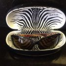 Authentic Roberto Cavalli Black Wrap Around w/ Animal Print Interior Sunglasses