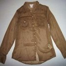 Pre-owned JOE FRESH JC PENNY Women's Brown Long Sleeve Blouse Size XS