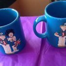 VTG Set of 2 Sky Blue Miami Dolphin Uniform Waechtersbach Mugs