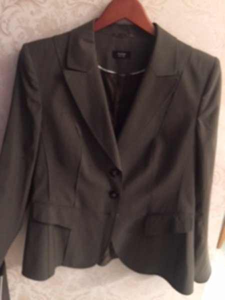 Pre-owned BASLER BLACK LABEL Wool Blend Gray Blazer SZ 42
