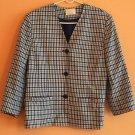 VTG Cream,Yellow,Navy Check Pattern Blazer Jacket PENDLETON SZ 14
