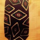 Christian Dior 100% Silk Purple Eggplant W Abstract Design Neck Tie