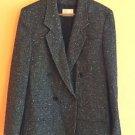 VTG Black Boucle 100% Virgin Wool Pendleton Blazer Sz 10