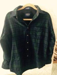Euc Pendleton Blue & Green Plaid Virgin wool Sz M