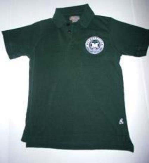 Pre-owned HEAD TO TOE Juniors Green Short Sleeve Shirt Unisex Size L MELS SCHOOL