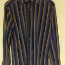VGC Thomas Elliot Multicolor Stripe Button Down Long Sleeve Shirt SZ M ITALY