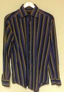VGC Thomas Elliot Multicolor Stripe Button Down Long Sleeve Shirt SZ M ITALY