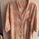 NWOT TOMMY BAHAMA  Orange & White Floral Pattern Short Sleeve Shirt SZ XXL