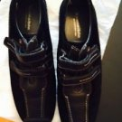 NWOT SENSIBLE Black Suede w/ Velcro Strap Closure Walking Shoes Sneakers SZ 9