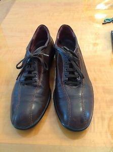 EUC HOGAN Brown Leather Sneakers w/ Rubber Soles SZ 38.5