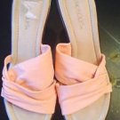 Aerosoles Hoopla Pink Twist Leather Slides Wedges Sandals Sz US 9.5 B EUR 7.5