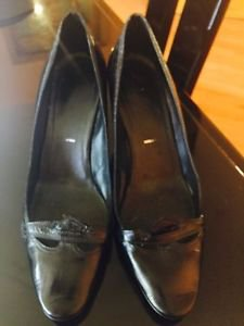 Pre-owned Sigerson Morrison Black Leather Pumps SZ 7 Made in Italy