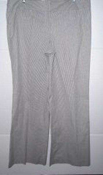 """ANN TAYLOR LOFT Women's Blue/White Stripe  Flare Leg """"Marisa"""" Pants Size 14"""