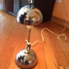 Art Deco Chrome Mushroom Cap Style Lamp Bowling Figure Table Lamp Made in USA