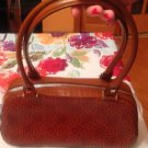 EUC Salvatore Ferragamo Small Brown Embossed Leather Hand Bag Made in Italy
