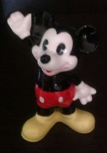 Vintage Mickey Mouse Pie-Eye Glazed Ceramic Figurine Made in Japan