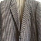 NWOT VTG Portfolio by PERRY ELLIS Houndstooth 100% Virgin Wool Sport Coat SZ M