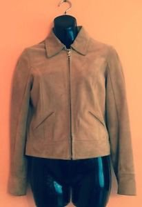 COACH Motorcycle Moto Brushed Suede Leather Jacket Caramel Brown Sz XS
