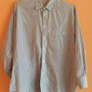 VGC Giorgio Armani Gray & Cream Striped 100% Cotton Button Down SZ 15.5/32.5