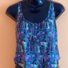 NWOT Rachel Comey Cropped 100% Silk Foral Print Tank Top SZ XS Made in USA