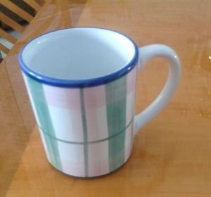 EUC Caleca Orchard Pattern Coffee Mug Retired Pattern Made in Italy