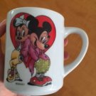Vtg DISNEY Mickey  Minnie Mouse Heart Design REUTTER Porcelain Mug West Germany