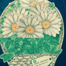New VTG  7 H.J. Stotter Foam Rubber Back Daisy Drink Coasters Basket Kitsch
