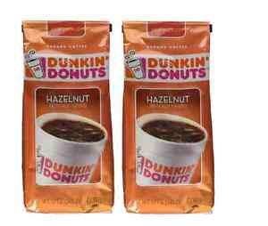NIP DUNKIN' DONUTS Hazelnut Ground Coffee, 12 Oz