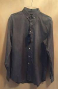 NWT Ralph Lauren Black Label Gray Button Down Shirt Tailored Fit SZ 17 XL
