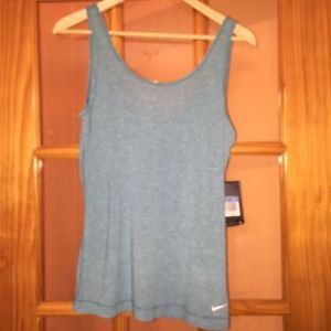 NWT NIKE PRO SKY BLUE DRI FIT Tank Top SZ M STYLE 611829 Retails for $35