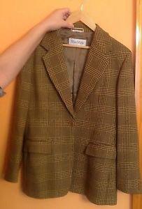 EUC MAX MARA Tweed 100% Virgin Wool Blazer Jacket SZ 10 Made in Italy
