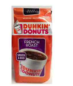 NIP DUNKIN' DONUTS French Roast Ground Coffee 12 OZ Single Pack