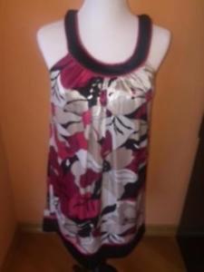 NWT SPEECHLESS Floral Print Pink White Black Sleeveless Tank Dress SZ Medium