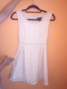 NWOT MISS CHIEVOUS White Floral Lace Sleeveless Dress SZ S Juniors