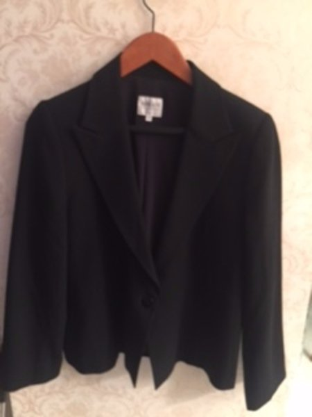 Pre-owned ARMANI COLLEZIONI 100% Virgin Wool Black One Button Blazer SZ US 16