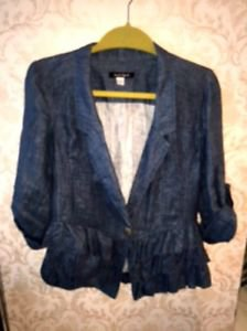 EUC Nanette Lepore Chambray Jacket SZ S Made in USA
