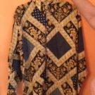 VTG BELLOWS BRUT Gilded Floral Gold Navy Button Down Shirt SZ XL France Hip Hop