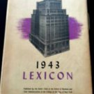 WWII 1943 Lexicon  NYC College Yearbook School of Business & Civic Admin Senior