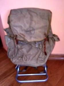 Vintage Boy Scout Large Canvas Camping Backpack w/ Cruiser Frame VTG Condition