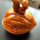 VTG MCM  Squirrel Walnut Nut Bowl Canister Cookie Jar Candy Dish 8'' x 7''