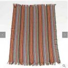 Barneys New York 100% Lambs wool Throw Multicolor Striped Home Decor Made in Ger