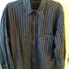 CORNELIANI 100% Cotton Navy White Yellow Check Button Down Shirt SZ IT 40