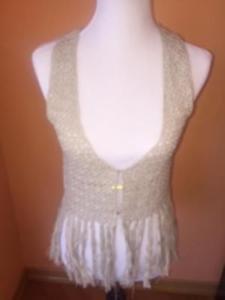 NWT LOVE by DESIGN Handmade  100% Cotton Crochet Vest  SZ M Retails for $40