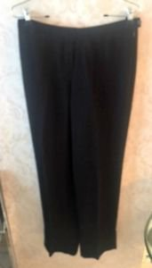 Pre-owned EMPORIO ARMANI Black Wide Leg Dress Pants SZ  US 8 IT 42 Made in Italy