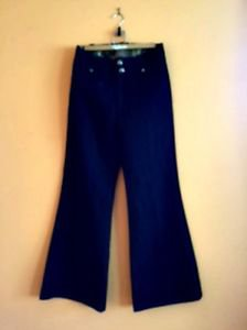 EUC RICH & SKINNY Dark Blue Denim Jeans Flared Leg SZ 31 Made in USA